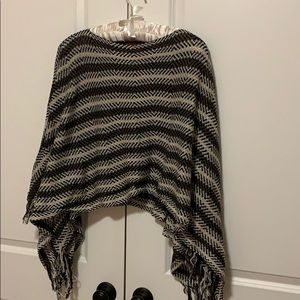 Missoni brown tan poncho